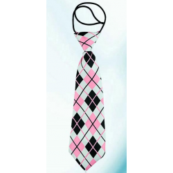 Kid tie Red with white dots