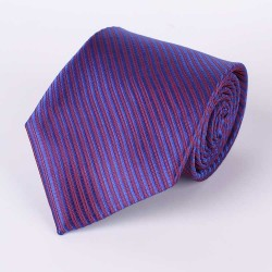 Tie marine blue striped navy-blue diagonal