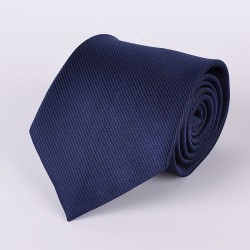 Blue tie with stripes