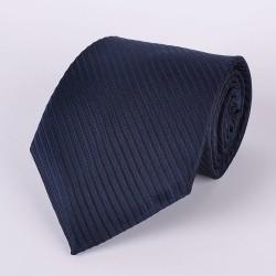 Cravate noire avec rayures bleu marin