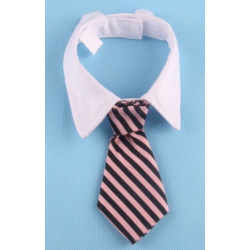 Tie for dogs and cats Black with kiss pattern