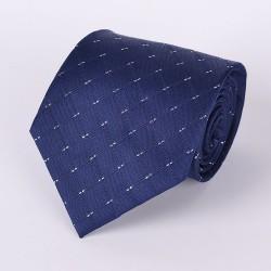 Cravate soirée scintillante marine losanges et motif argent