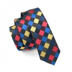 Cravate étroite 100 % soie SKTLV-037