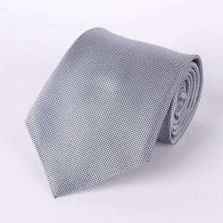 Cravate grise argentée