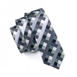 Cravate étroite 100 % soie