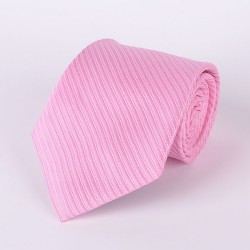 Pink tie with pale pink stripes